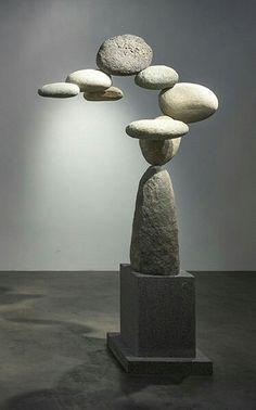 Wood Davy rock sculpture