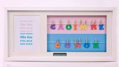 Personalised Baby Frame A Name for Twins