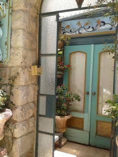 Door and another one. Entrance Ways, Grand Entrance, Entrance Doors, Doorway, Classic Window, Garden Gates, Balconies, Israel, Windows
