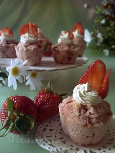 Muffin fior di fragola by Dolcearcobaleno