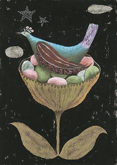 Flower Bird by Tetsuhiro Wakabayashi