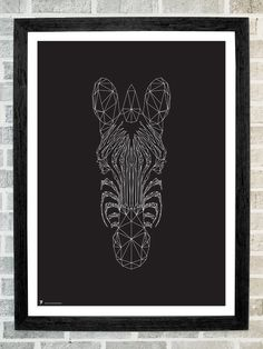 Zebra head triangles print 11X16 by stola12 on Etsy, $20.00