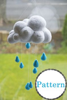 Rain Cloud PATTERN by ElinAmanda on Etsy, £4.00  Want to make this right MEOW.
