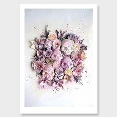 Splatter Skulls Photographic Art Print by Georgie Malyon NZ Art Prints, Art Framing Design Prints, Posters & NZ Design Gifts | endemicworld