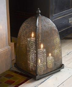 Moorish iron windlight - that is so cool for those windy nights!