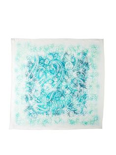 Hermes Women's Carre Scarf, White/Teal at MYHABIT