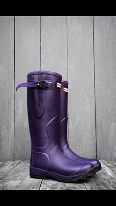 Fashion | Shoes | Hunter Boots | Balmoral Neoprene | Aubergine