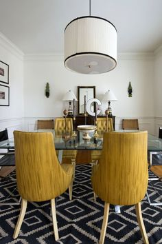 Gold accents found through out this midcentury-bohemian home