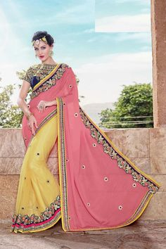 07117c1db4596 Artistically crafted and intricately embroidered designer saree collections  are presented to you by MohiniSareeOnline. Be a dazzling diva by draping ...