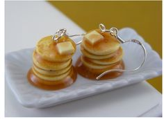 We're pretty obsessed with these food earrings made by Shay Aaron found--where else?--on Etsy