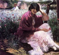 The Garden Abbott Handerson Thayer (1884) Private collection Painting - oil on canvas