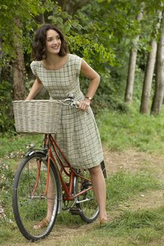 The Hundred-Foot Journey, Charlotte Le Bon as Marguerite Charlotte Le Bon, 100 Foot Journey, The Sweetest Thing Movie, Style Année 20, Cycle Chic, Country Fashion, Bicycle Girl, Bike Style, Zooey Deschanel