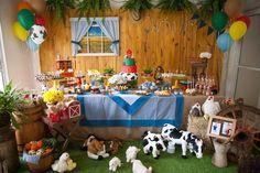 Festa na fazendinha é tema divertido para aniversário de 1 ano