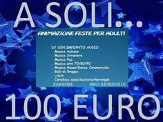 A soli 100 euro feste eventi con dj karaoke e animazione