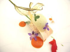 Le Nuvole, Suvereto Tuscany - Chef Timothy Magee Eggplant croquette with basil air from Le Nuvole in Suvereto, Italy