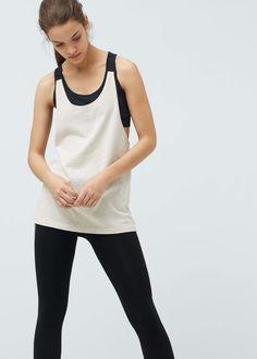 Incorporated bra t-shirt | MANGO