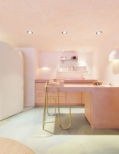 Bondi Beach's newest lifestyle store, PLAYA by Lucy Folk with baby pink hues and brass detailing