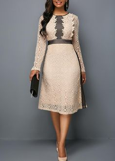 High Waist Long Sleeve Round Neck Lace Dress - High Waist Long Sleeve Round Neck Lace Dress Source by himbeerfrosch - Women's Fashion Dresses, Sexy Dresses, Formal Dresses, Sleeve Dresses, Lace Dresses, Dresses Dresses, Cheap Dresses, Casual Dresses, Club Party Dresses