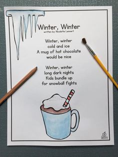 Winter Poem of the Week Unit