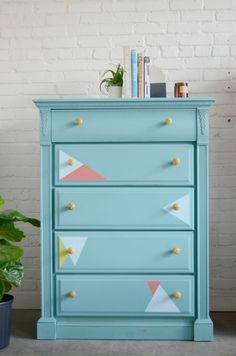 Modern-triangle-painted-dresser
