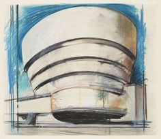 Richard Hamilton. The Solomon R. Guggenheim -- Architect's visual. 1965