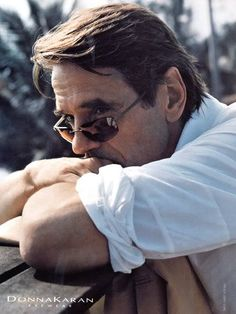 Jeremy Irons for Donna Karan.
