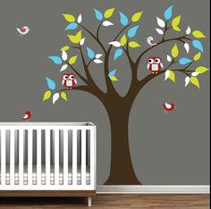 Childrens Vinyl Wall Decals Tree with by Modernwalls on Etsy, $99.00 https://www.etsy.com/shop/Modernwalls