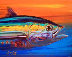 Tuna Portrait by Mike Savlen - Tuna Portrait Painting - Tuna Portrait Fine Art Prints and Posters for Sale Animal Paintings, Fish Paintings, Fish Artwork, Museum Of Modern Art, Art Museum, Arte Pop, Painting Inspiration, Unique Art, Fine Art America