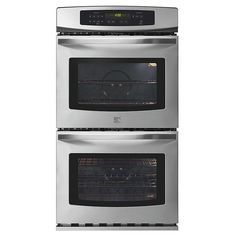 """Top choice.    Kenmore - 48873 - 30"""" Double Electric Wall Oven w/Select Clean® Upper Oven   Sears Outlet"""