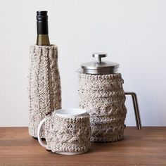 Product Image Tea Cosy Knitting Pattern, Easy Knitting Patterns, Free Knitting, Knitting Projects, Baby Knitting, Sweater Patterns, Stitch Patterns, Crochet Patterns, Knitted Coffee Sleeve