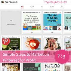 Simple Steps to Market on Pinterest for Profit via @pegfitzpatrick