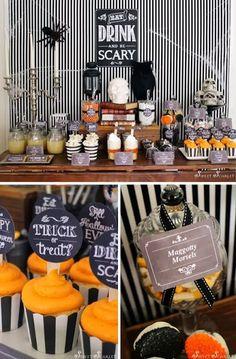 decorao para o halloween scary halloween partieshalloween dessertshalloween party ideashalloween - Scary Halloween Party Ideas