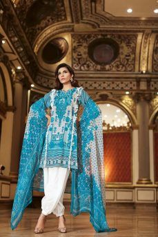 Gul Ahmed Summer Embroidered Lawn Dresses Collection 2018-2019