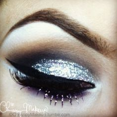 Prom makeup? i LOVE THE WAY IT SPARKLES! but i dont think i would want glitter falling in my eyes all night