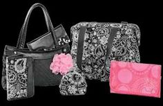 New Spring 2012 -  Black Paisley Parade,  Pink Circle Spirals