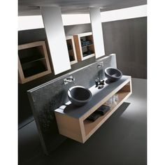 20 Elegant Bathroom Makeover Ideas : Contemporary Black Bathroom Ideas With Black Round Sink Bathroom Sink Bowls, Modern Bathroom Sink, Modern Bathrooms Interior, Ideal Bathrooms, Contemporary Bathroom Designs, Beautiful Bathrooms, Bathroom Ideas, Bathroom Vanities, Modern Vanity