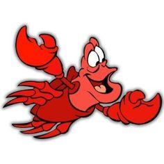 "Little Mermaid Sebastian Disney sticker 5"" x 4""  $3.95"