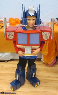 Steve: My 5 year old son is wearing the costume. He came across the 80's version of The Transformers on Netflix and fell in love with Optimus Prime. I have to...