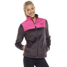FILA SPORT Biella Print Performance Fleece Jacket - Women's