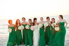 Green Chiffon Beach Bridesmaid Dresses With Black Belt Pleated Sleeveless Sexy Summer Outside Wedding Party Gown Custom Made $139.87