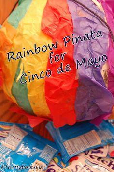 Rainbow Pinata for Cinco de Mayo