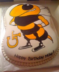 Georgia Tech Yellow jackets Cake by Cakes by Gaby!, via Flickr