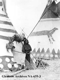Title: Blackfoot woman with tipi.  Date: [ca. 1910]