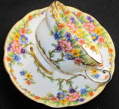 Star Paragon Climbing Fleur  Tea cup and saucer!