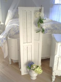 Pinterest Shabby Chic Furniture | sold! Louvered shutters shabby chic furniture by backporchco on Etsy ...