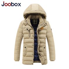 c772a6e8f99cd K-rich 2017 Coat Winter Jacket Men Fashion Solid Hooded Warm Slim Man Jacket  Long Style Parka Coats Plus Size