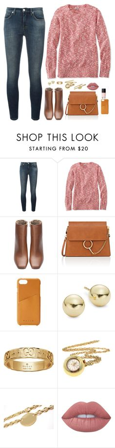 """""""Untitled #1076"""" by sophia-etr ❤ liked on Polyvore featuring Victoria, Victoria Beckham, L.L.Bean, Chloé, Mujjo, Lord & Taylor, Gucci, Tiffany & Co. and Lime Crime"""