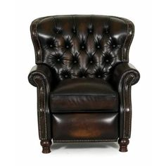 Shop for Presidential II Stetson Coffee Tufted Recliner. Get free delivery On EVERYTHING* Overstock - Your Online Furniture Shop! Living Room Chairs, Living Room Furniture, Home Furniture, Furniture Chairs, Traditional Chairs, Traditional Furniture, Leather Recliner Chair, Recliner Chairs, Lounge Chairs