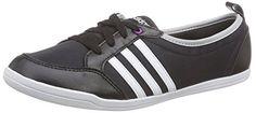 adidas Damen Piona W Turnschuhe, Negro / Blanco / Plateado (Negbas / Ftwbla / Plamat), 42 EU - http://uhr.haus/adidas/adidas-damen-piona-w-turnschuhe-negro-blanco-42-eu