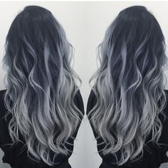 """Hot on Beauty on Instagram: """"Smoky Blue Silver by @dianashin #hotonbeauty #beautymagazine #featurepage Hot Beauty Magazine"""" I want this color!"""